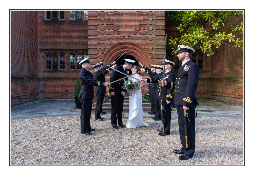 Cant pass untill you kiss - wedding joy