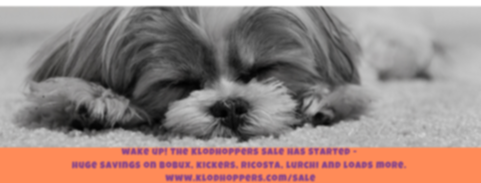 click the dog! The Klodhoppers Sale Has
