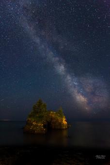 Milky Way Over Hollow Rock