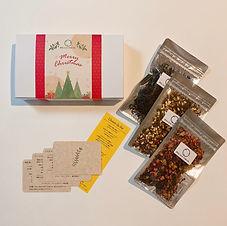 C.クリスマスのお茶便り(リーフ箱)