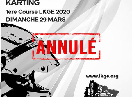 ANNULATION - 1ere Manche LKGE Lommerange