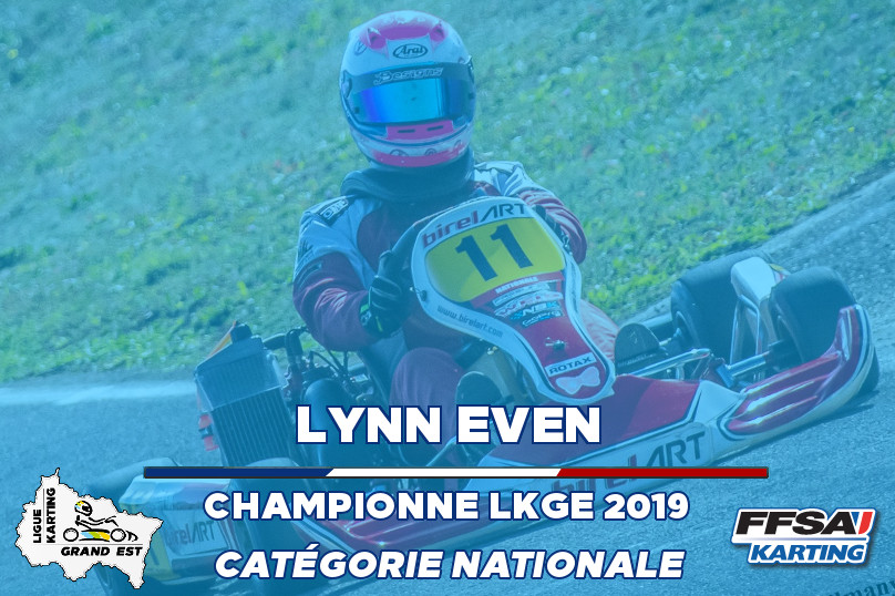 LKGE Lynn Nationale Kart Championne Cham