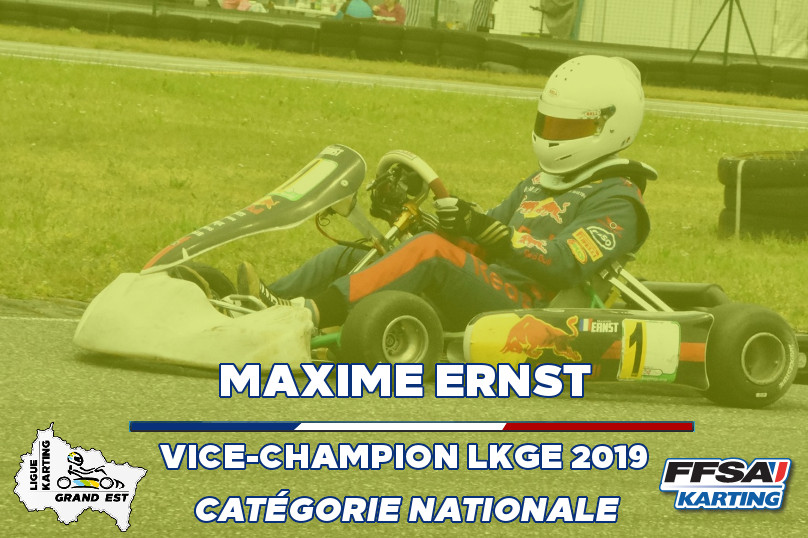 LKGE Maxime Nationale Kart vice Champion