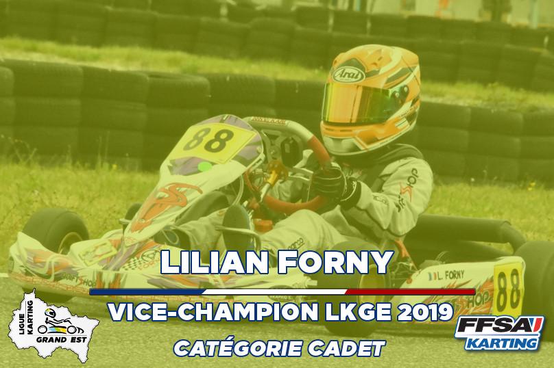 LKGE Lilian Cadet vice Champion Champion