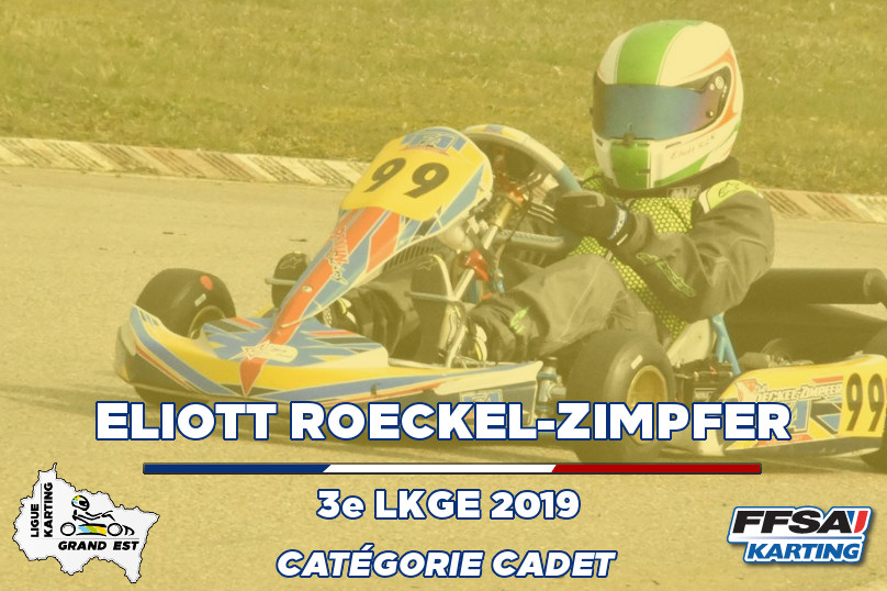 LKGE Eliott Cadet 3e Championnat Karting