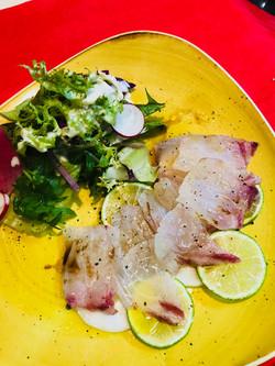 カルパッチョ真鯛の昆布〆