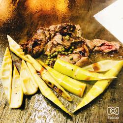 破竹と牛肉オイスターソース炒め
