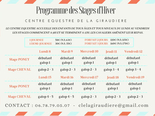 STAGE HIVER