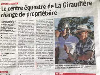 Le centre équestre de La Giraudière change de propriétaire