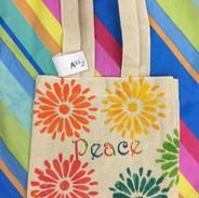 Downward Doll Sized Tote Bags