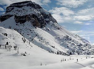 Snowshoe Alta Via in Italy's Dolomites.j
