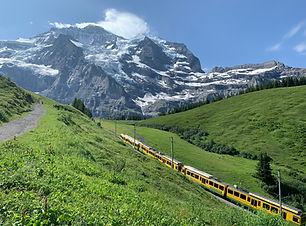 Jungfrau above Wengen
