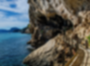 Sea and walkway on Selvaggio Blu adventu