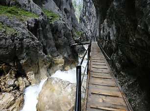 Gorge walking on the Trans Tyrol Trail t