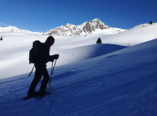 Uphill on Dolomites Snowshoe Week with C
