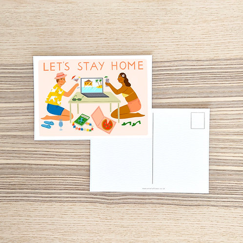 Let's Stay Home Postcard