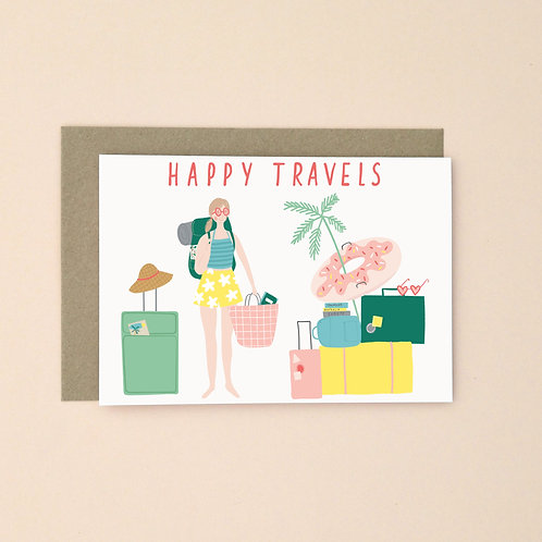 Happy Travels (Pack of 6)