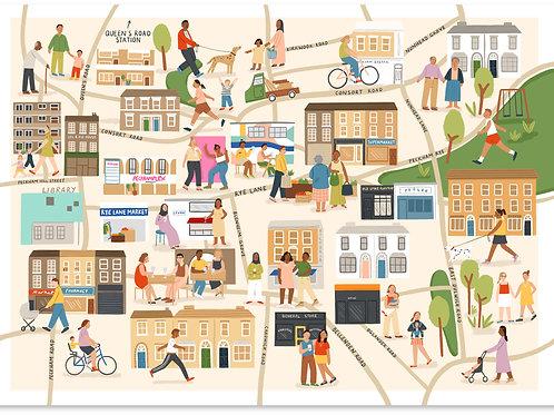 Peckham Map A3