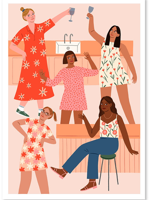 Kitchen Party Print A4