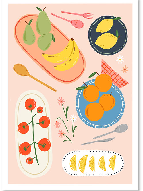 Fruit Print A4