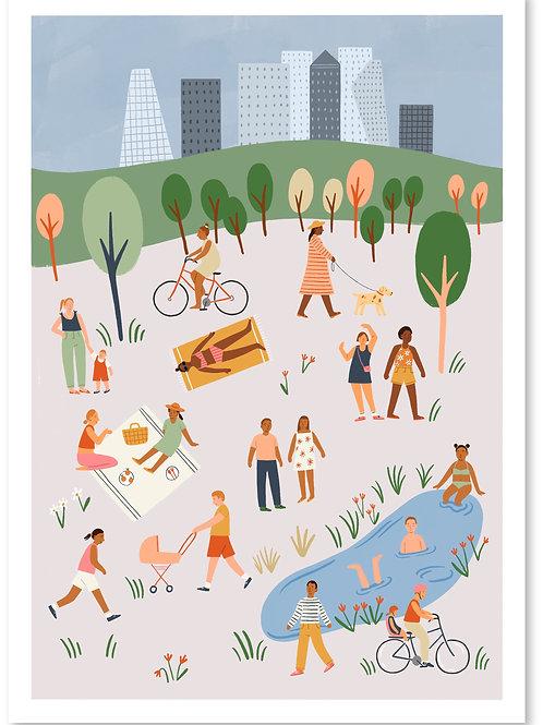 City Parks Print A4