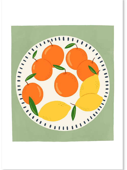 Citrus Print A4