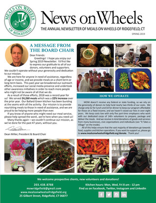 Our Annual Newsletter - Spring 2019