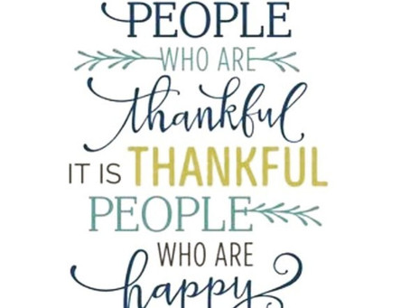 It's Not Happy People Who Are Thankful, It Is Thankful People Who Are Happy