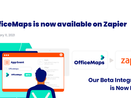 Office Maps integrate with Zapier