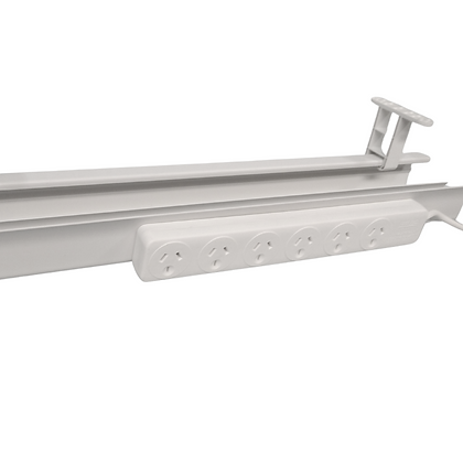 Listo cable tray + 6 outlet multi plug