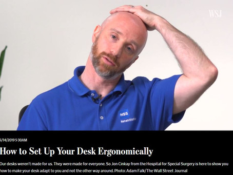 Setting your desk up ergonomically....