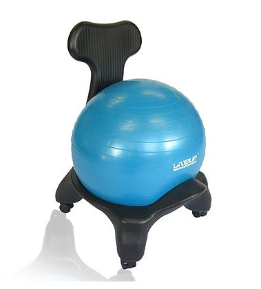 Swiss ball chair
