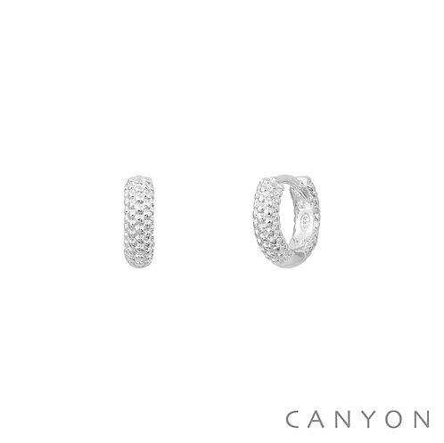 Boucles d'oreille argent mini-créoles tissées Canyon