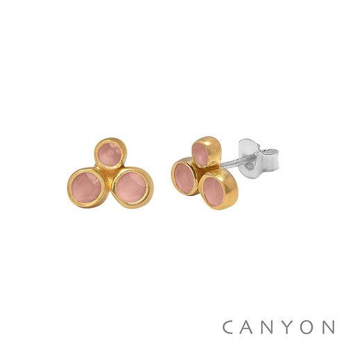 Boucles d'oreille céramique rose Canyon
