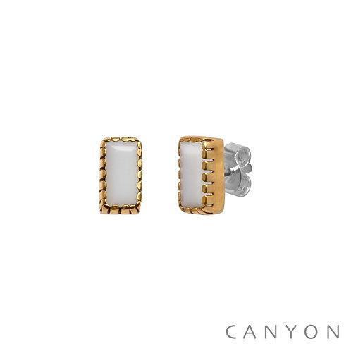 Boucles d'oreille céramique blanche  Canyon