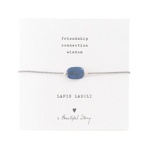 "Bracelet cordon ""Lapis Lazuli"" silver A Beautiful Story"