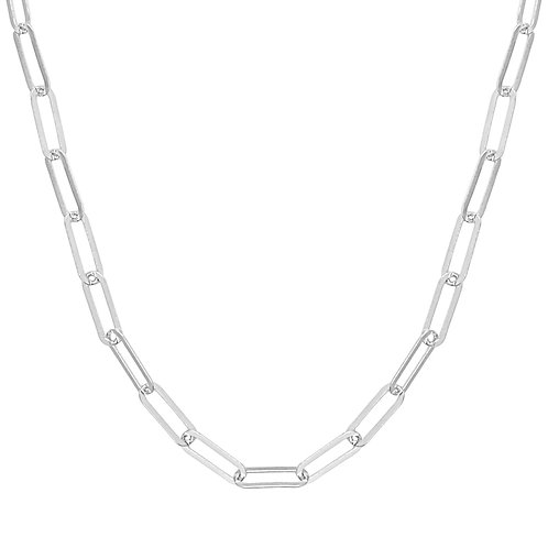 Collier argent rectangles Canyon