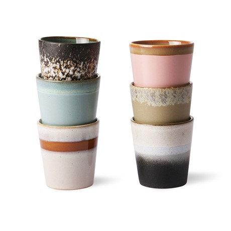 Mugs en céramique (lot de 6)