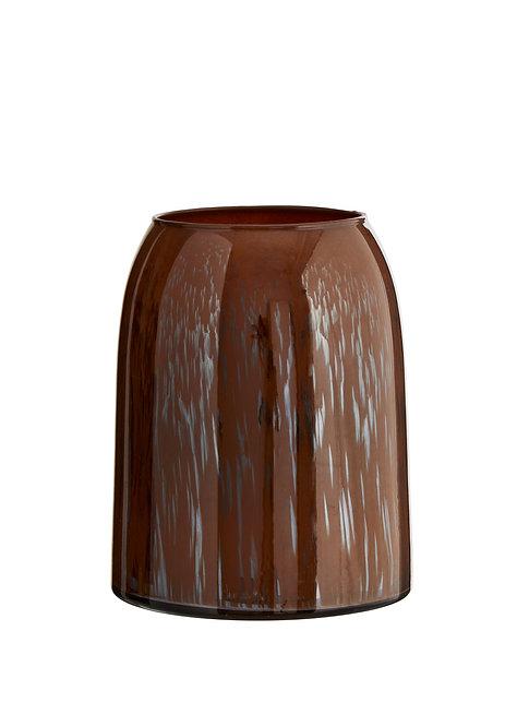 Vase en verre MadamStoltz brun