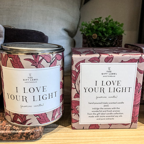 Bougie parfumée -I love your light