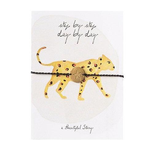 "Bracelet carte postale ""Leopard"" A Beautiful Story"