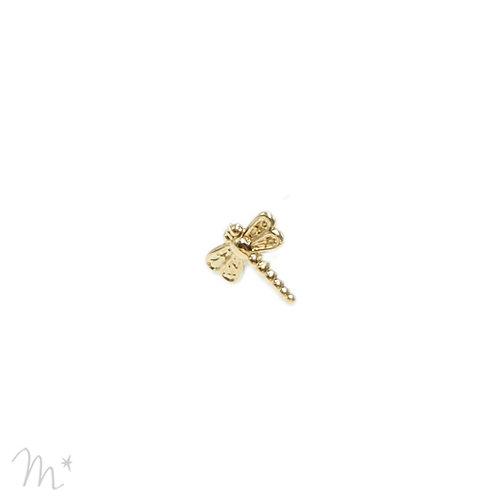 Pin's  libellule doré à l'or fin 24 carats Mila Création