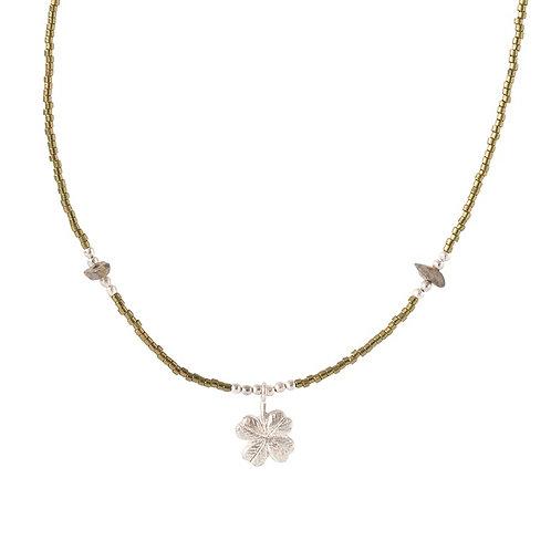 Collier A Beautiful Story Wildflower labradorite silver