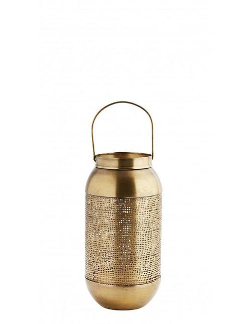Lanterne en laiton cuivre antique D11xH26cm