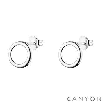 Boucles d'oreille argent ornées cercle Canyon