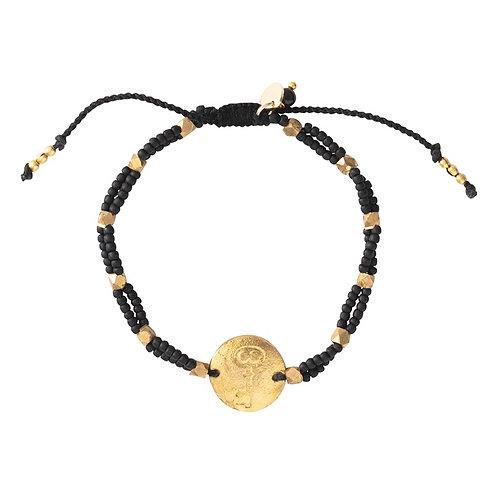 Bracelet A Beautiful Story Gratitude Black Onyx gold