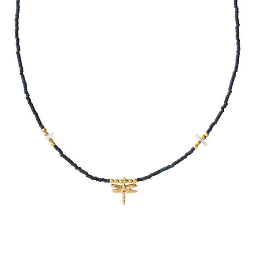Collier A Beautiful Story Wildflower Moonstone gold
