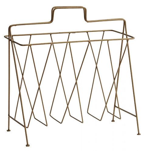 Porte revue en métal laiton antique