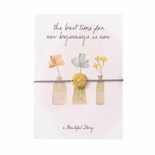 "Bracelet carte postale ""Fleurs"" A Beautiful Story"