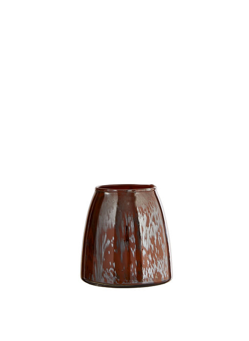 Vase ou photophore en verre MadamStoltz brun